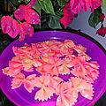 Pâtes papillons farfalles roses, foodista challenge #55