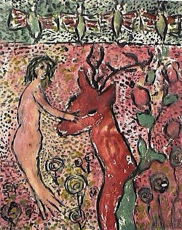 PEPERSACK Sirène et Cerf 1966 36,5 x 28,5
