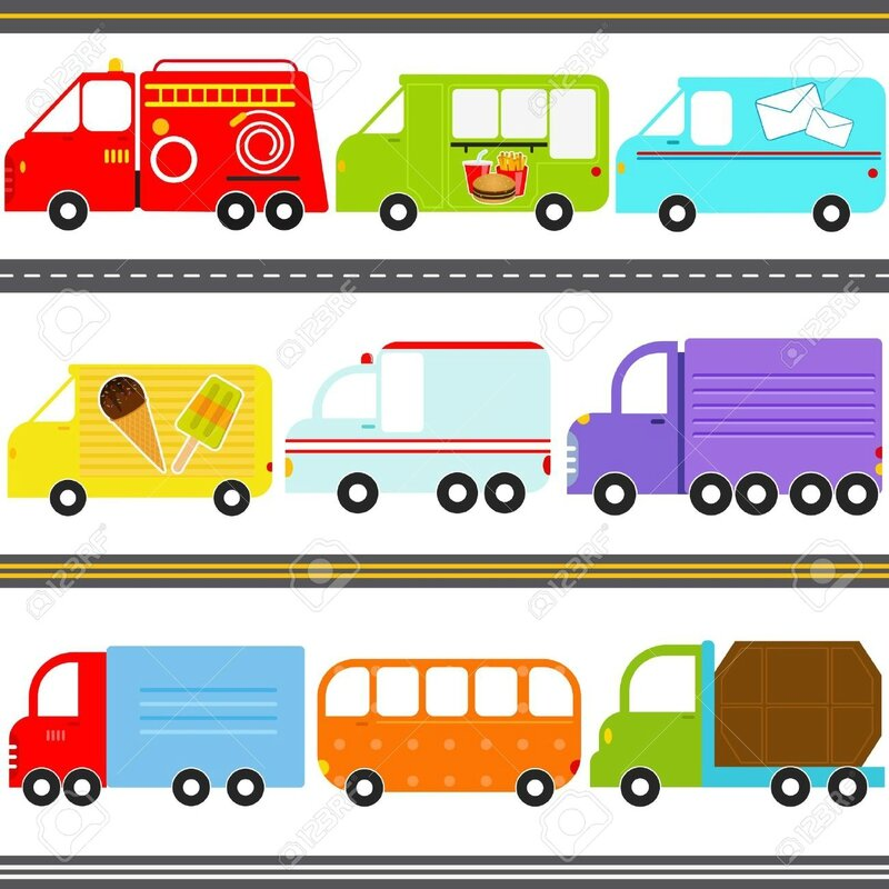 15908563-a-set-of-cute-vector-icons--van--truck-vehicles--freight-transportation