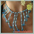 Collier gouttes turquoise