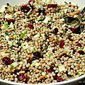 Salade de couscous marocain aux pommes, canneberges et fines herbes