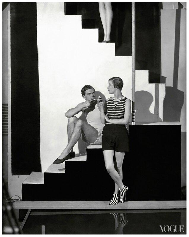 george-hoyningen-huene bathing-suits-in-vogue-1928-07-01-