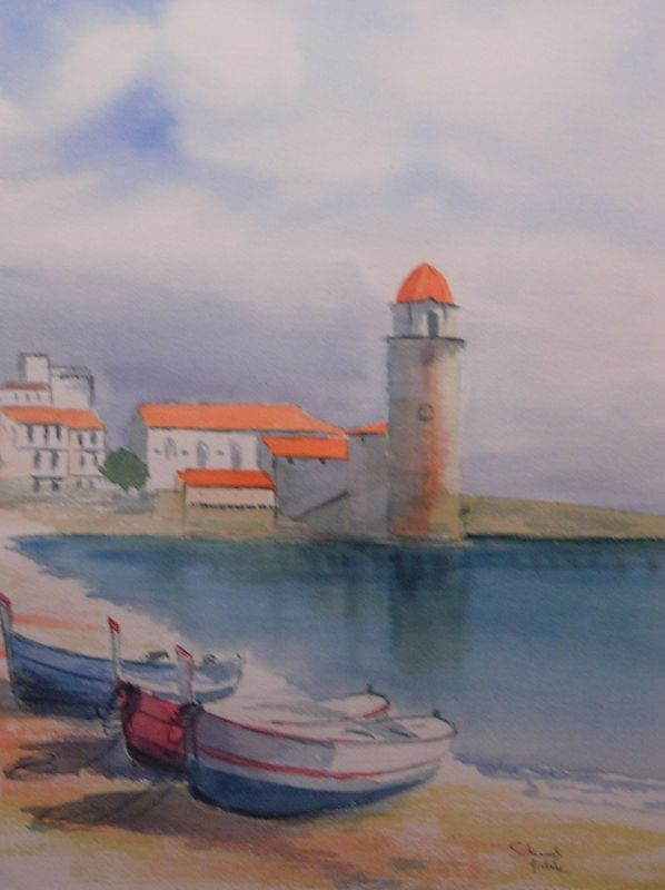 Collioure - Aquarelle