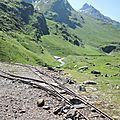 Gourette, C les Trois lacs, Plaa de Batch, mine de fer, rails, vallon