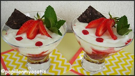 verrine fromage blanc fruits rouges