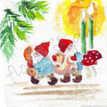 carte n°18 - lutins et bougies
