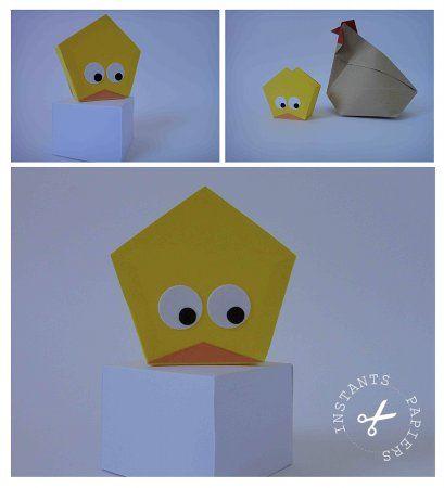 Une Poule En Origami Pour Pâques Instants Papiers