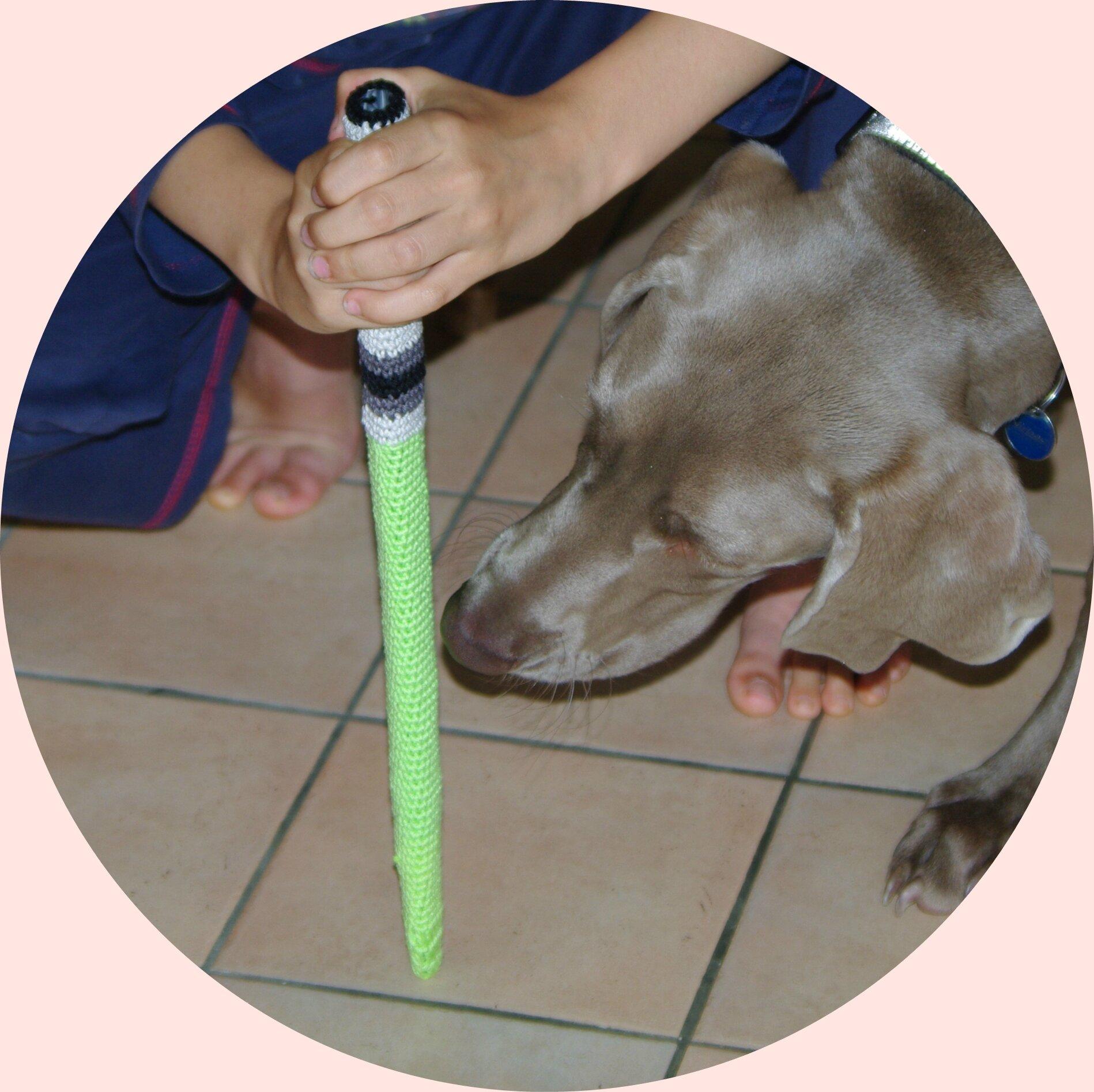 épée laser de jedi au crochet