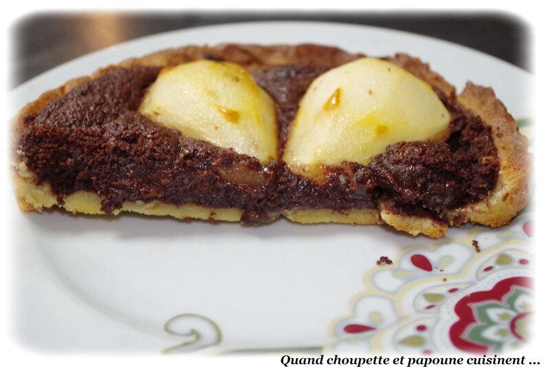 tarte poires et chocolat-6209