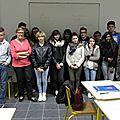 2014 - jsl -visite des élèves du lycée karol miarka de zory
