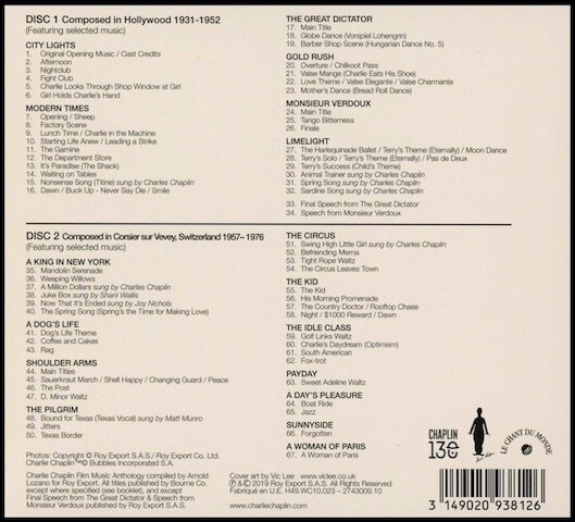 charlie chaplin film music anthology 2