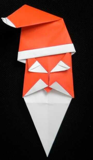 pere noel origami 3