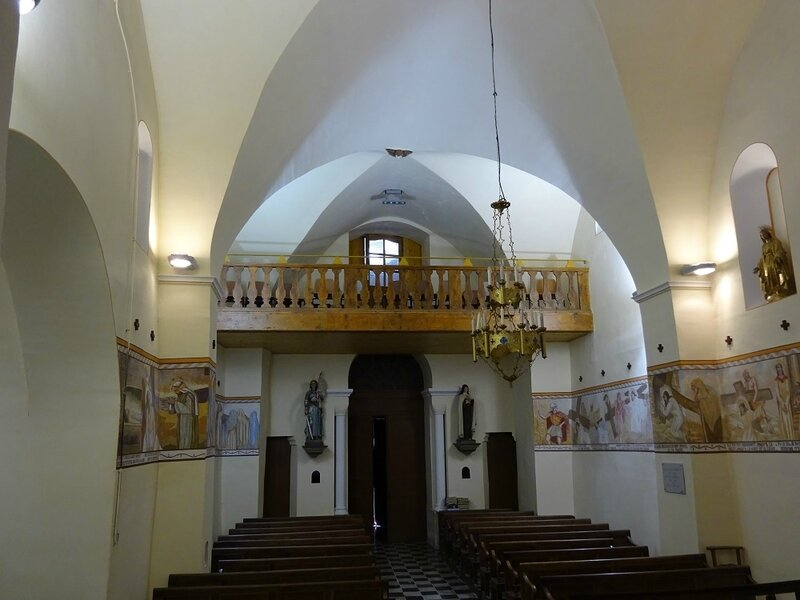 andré seurre nef église séderon positionnement de la fresque