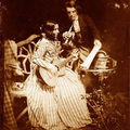 50. Robert ADAMSON and David Octavius HILL, Portrait de Miss Elizabeth Chalmers et son frère David Chalmers, 1843-1847.