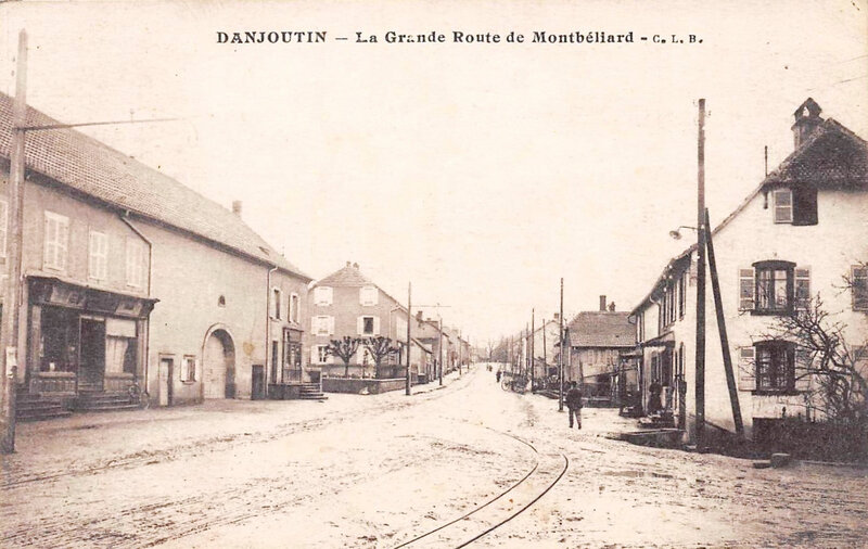 CPA Danjoutin Route Montbéliard 2