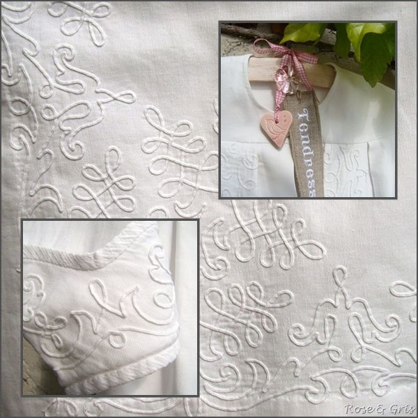 manteau de baptème détails