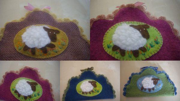 2013-03-31 pochettes agneau de Pâques
