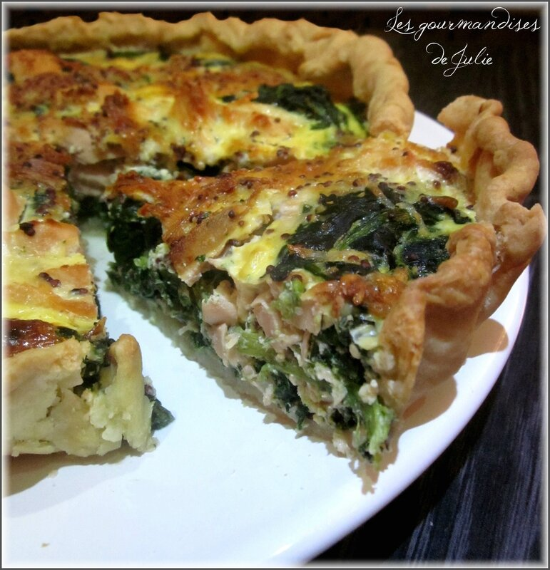 quiche saumon epinards
