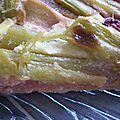 Tarte fraise, rhubarbe