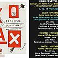 Coax festival 9, 10, 11 novembre 2017