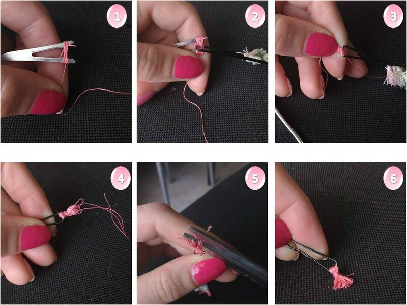 DIY mini pompon