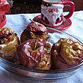 Pommes au four, coeur de pain d'épices