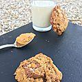 Cookies au beurre de cacahuètes et snickers
