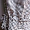Panty de coton vichy gris et écru (5)