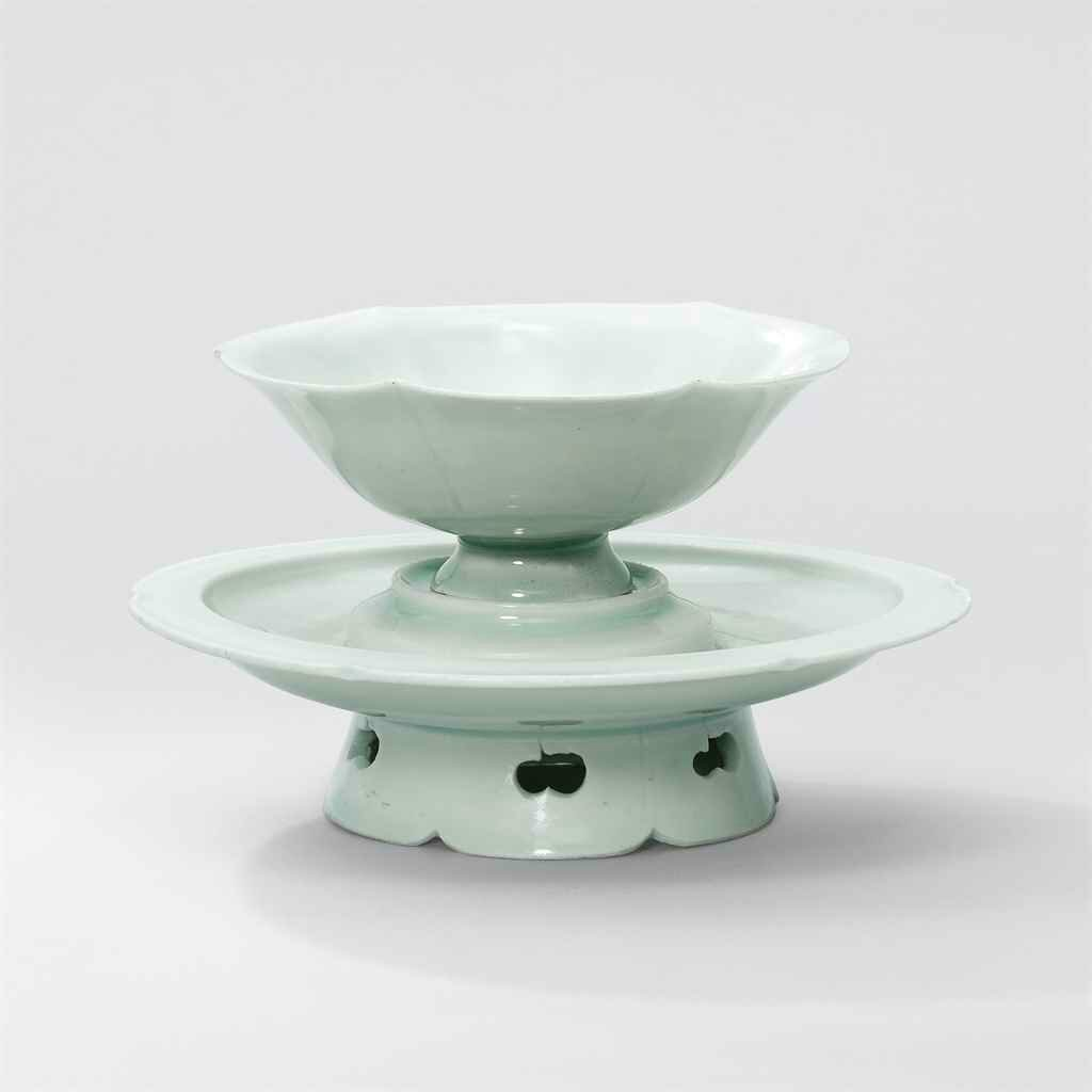 A Qingbai floral-lobed cup-stand, Northern Song dynasty (960-1127)