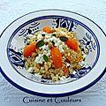 Salade marocaine au chou fleur râpé