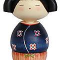 La petite kokeshi festive de manuela, 10e inscrite