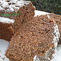 Cake au cacao et pignons de pin