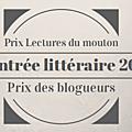 Prix lectures du mouton : prix des blogueurs - rentrée littéraire 2015
