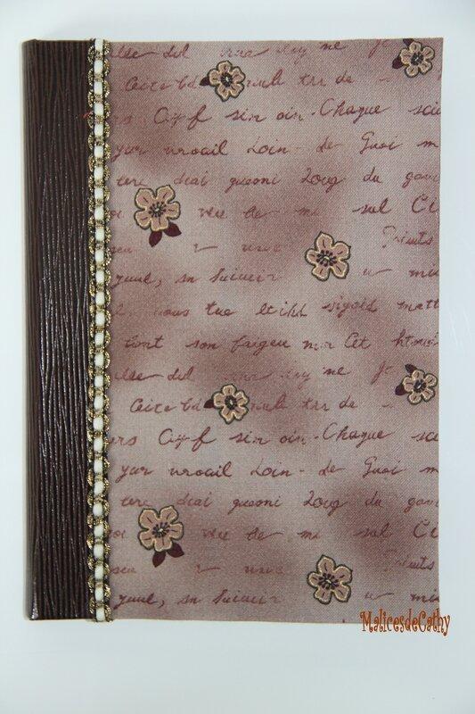 répertoire marron fleur écriture