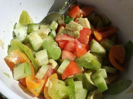 salade tomate verte