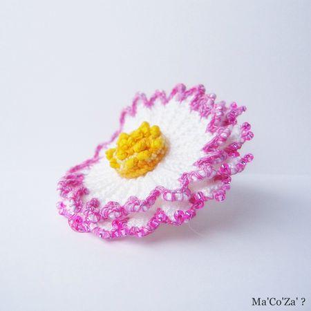 bague paquerette crochet