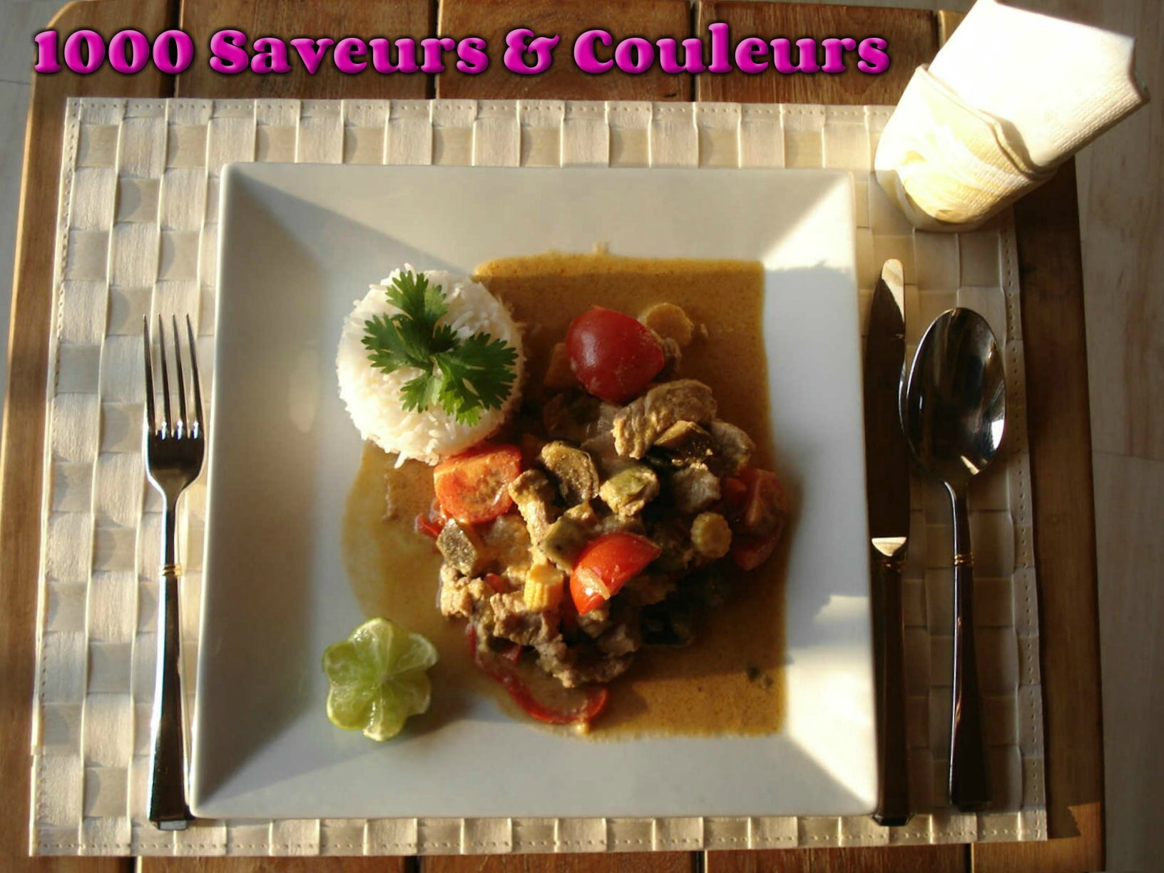 Porc au curry rouge (ou l'équilibre des goûts)