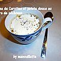 Crème de carottes et de patates douces au poivre de séchouan