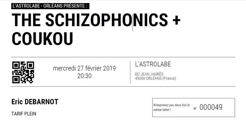2019 02 27 The Schizophonics Astrolabe Billet