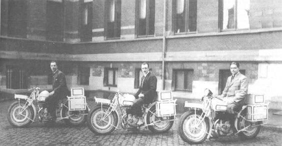 Jean Bruneteau et ses co-équipiers