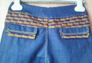 Pantalon Baggy - poches décoratives dos