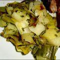Poêlée poireaux et pommes de terre