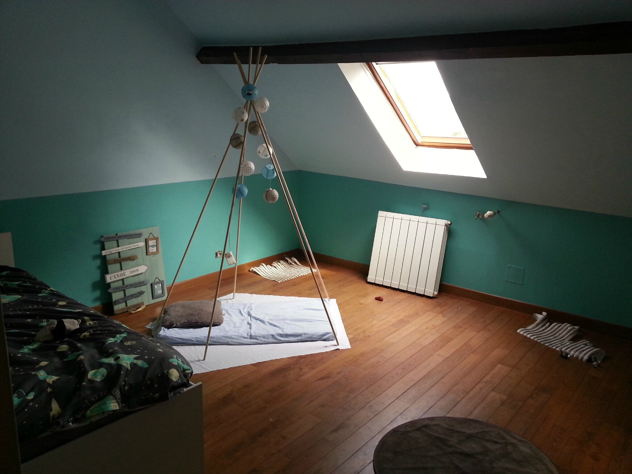 Décoration de chambre enfant (garçon) et création d'une tente!