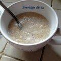 Porridge détox