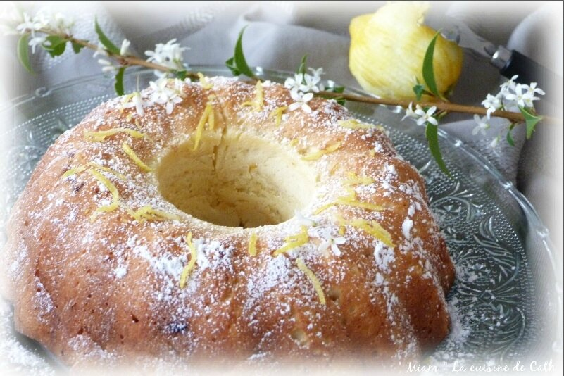 """ღ """" Miam """" Gâteau Italien au citron ( et au mascarpone )"""