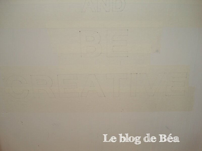 DIY tableau en planches de palette keep calm and be creative