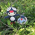 Test crochet - felton in penguin costume...