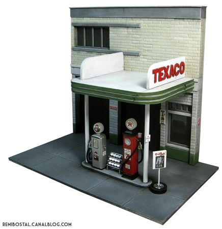 texaco bttf back to the future hill valley scenery heroclix remi bostal