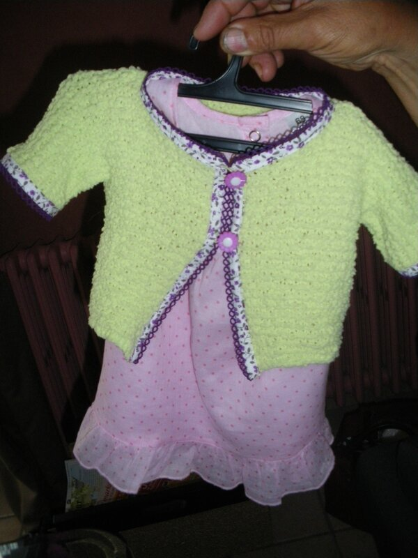 GILET TRICOTE MANCHES COURTES TAILLE 3 MOIS