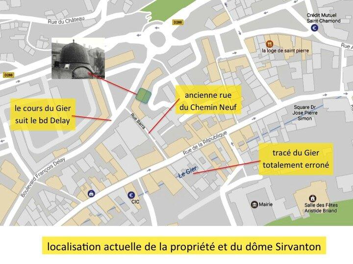 localisation actuelle du dôme Sirvanton